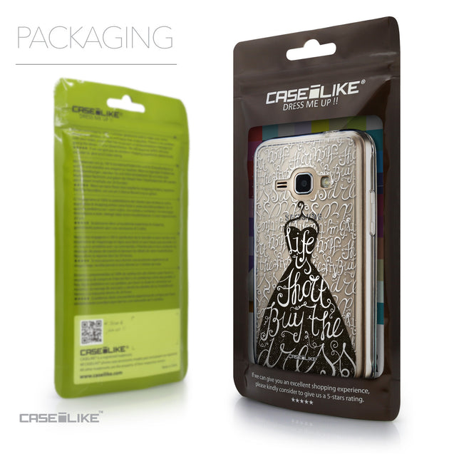 Packaging - CASEiLIKE Samsung Galaxy J1 (2016) back cover Indian Tribal Theme Pattern 2053