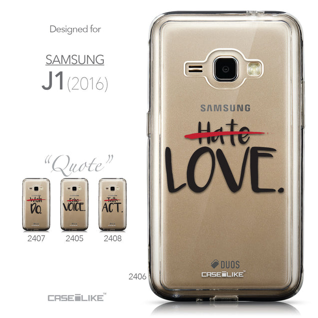 Collection - CASEiLIKE Samsung Galaxy J1 (2016) back cover Quote 2406