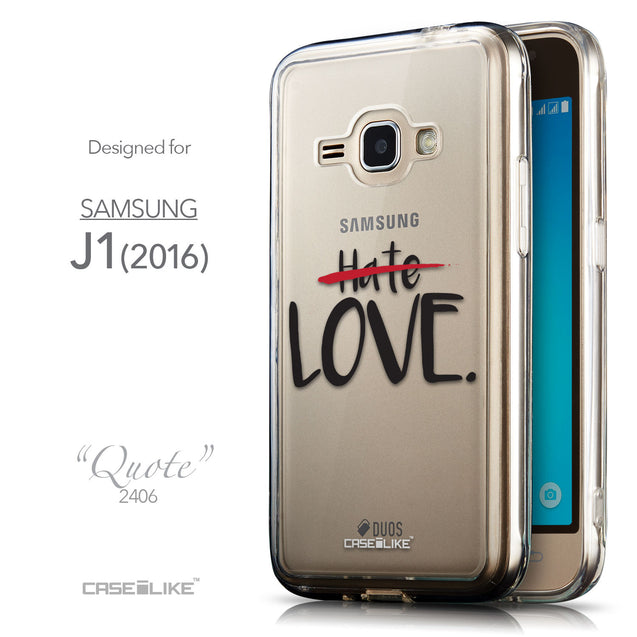 Front & Side View - CASEiLIKE Samsung Galaxy J1 (2016) back cover Quote 2406