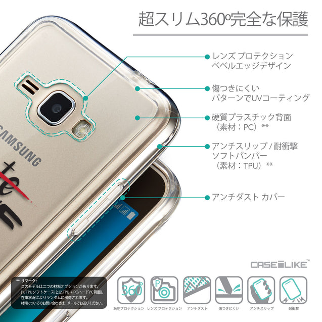 Details in Japanese - CASEiLIKE Samsung Galaxy J1 (2016) back cover Quote 2406
