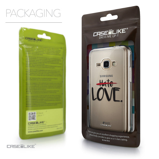 Packaging - CASEiLIKE Samsung Galaxy J1 (2016) back cover Quote 2406