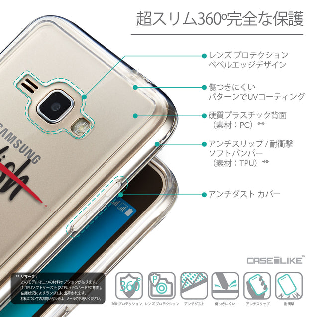 Details in Japanese - CASEiLIKE Samsung Galaxy J1 (2016) back cover Quote 2407