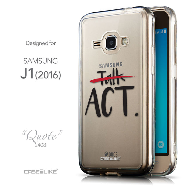 Front & Side View - CASEiLIKE Samsung Galaxy J1 (2016) back cover Quote 2408