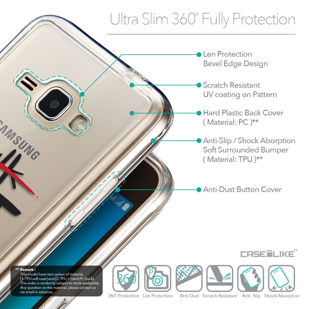 Details in English - CASEiLIKE Samsung Galaxy J1 (2016) back cover Quote 2408