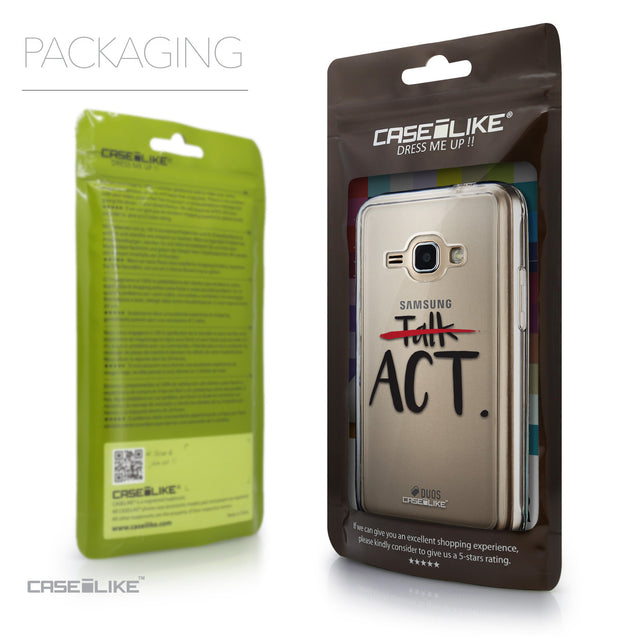 Packaging - CASEiLIKE Samsung Galaxy J1 (2016) back cover Quote 2408