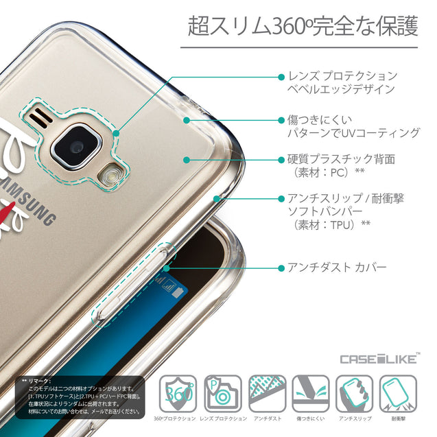 Details in Japanese - CASEiLIKE Samsung Galaxy J1 (2016) back cover Quote 2409