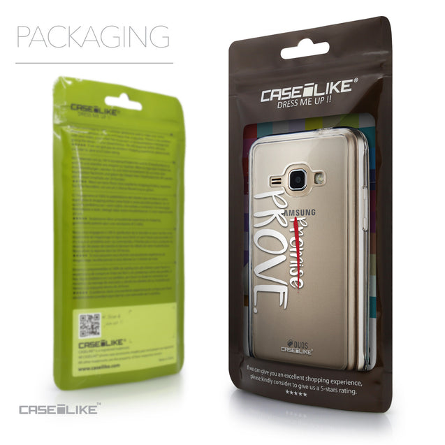 Packaging - CASEiLIKE Samsung Galaxy J1 (2016) back cover Quote 2409