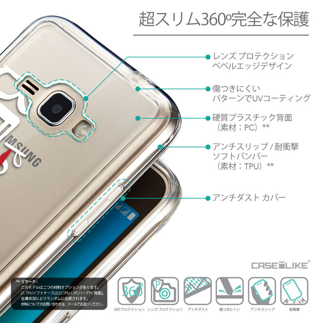 Details in Japanese - CASEiLIKE Samsung Galaxy J1 (2016) back cover Quote 2410