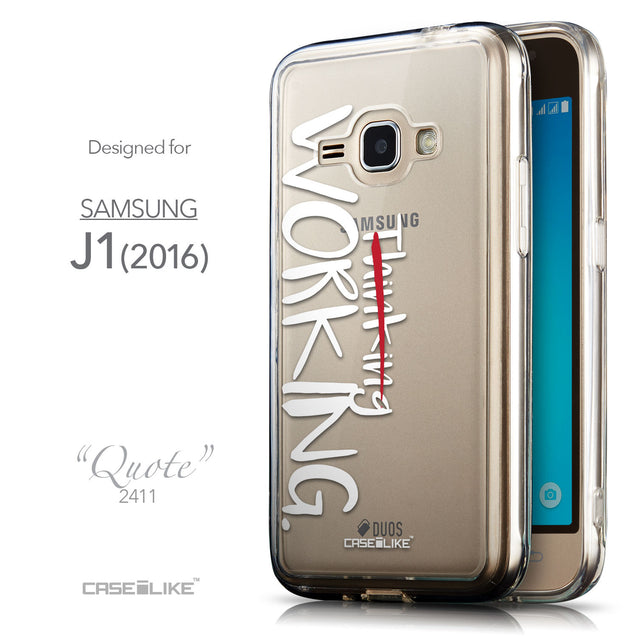 Front & Side View - CASEiLIKE Samsung Galaxy J1 (2016) back cover Quote 2411
