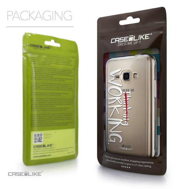 Packaging - CASEiLIKE Samsung Galaxy J1 (2016) back cover Quote 2411