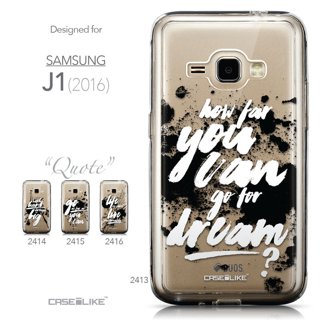 Collection - CASEiLIKE Samsung Galaxy J1 (2016) back cover Quote 2413