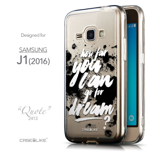 Front & Side View - CASEiLIKE Samsung Galaxy J1 (2016) back cover Quote 2413