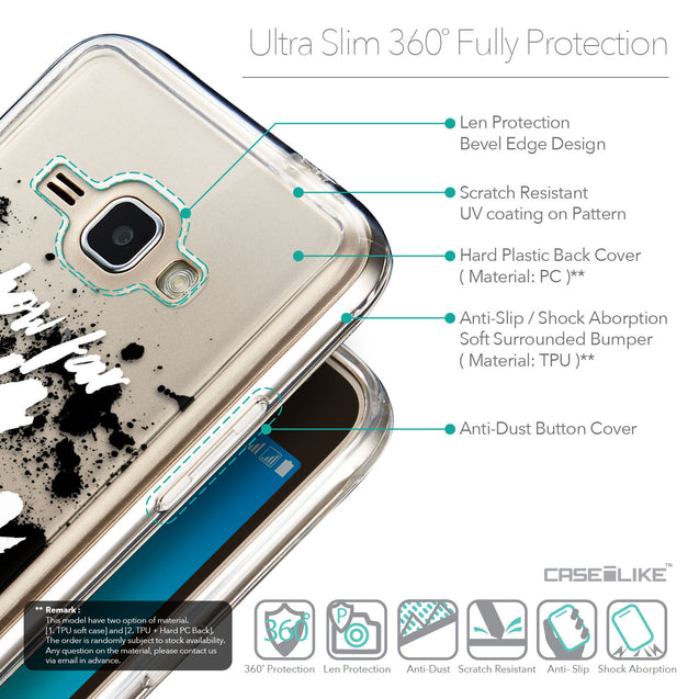 Details in English - CASEiLIKE Samsung Galaxy J1 (2016) back cover Quote 2413