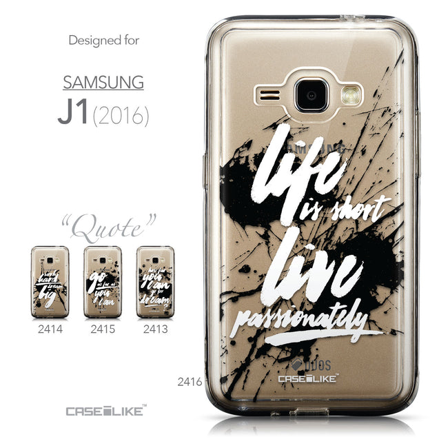 Collection - CASEiLIKE Samsung Galaxy J1 (2016) back cover Quote 2416