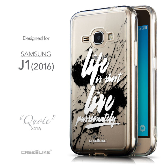 Front & Side View - CASEiLIKE Samsung Galaxy J1 (2016) back cover Quote 2416