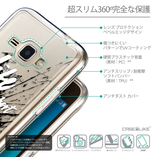 Details in Japanese - CASEiLIKE Samsung Galaxy J1 (2016) back cover Quote 2416
