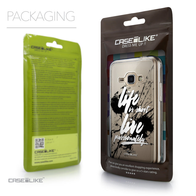 Packaging - CASEiLIKE Samsung Galaxy J1 (2016) back cover Quote 2416
