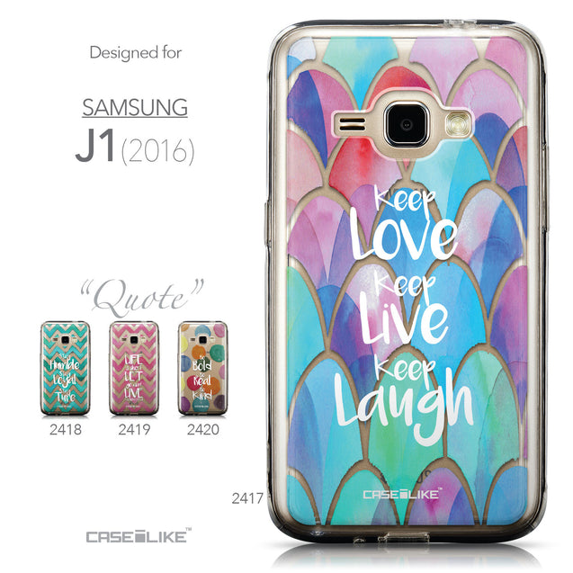 Collection - CASEiLIKE Samsung Galaxy J1 (2016) back cover Quote 2417