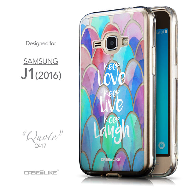 Front & Side View - CASEiLIKE Samsung Galaxy J1 (2016) back cover Quote 2417