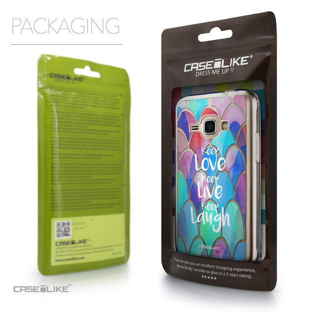 Packaging - CASEiLIKE Samsung Galaxy J1 (2016) back cover Quote 2417