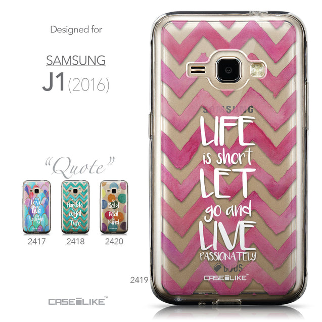 Collection - CASEiLIKE Samsung Galaxy J1 (2016) back cover Quote 2419
