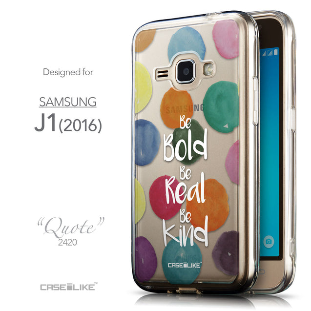 Front & Side View - CASEiLIKE Samsung Galaxy J1 (2016) back cover Quote 2420