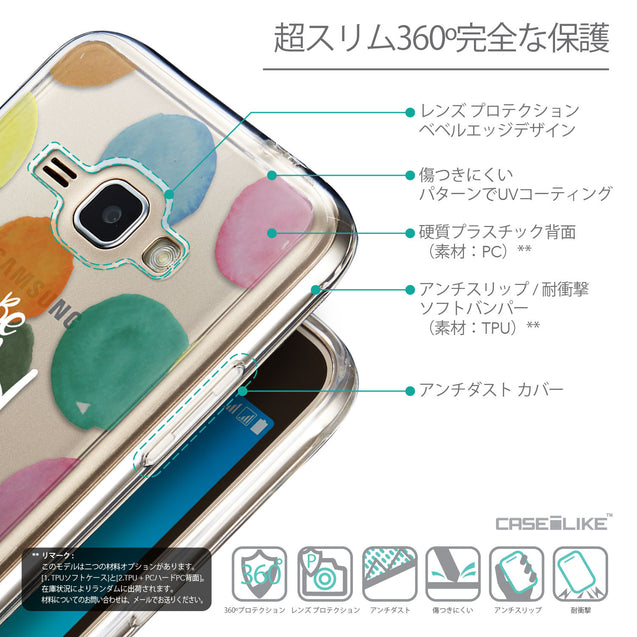 Details in Japanese - CASEiLIKE Samsung Galaxy J1 (2016) back cover Quote 2420