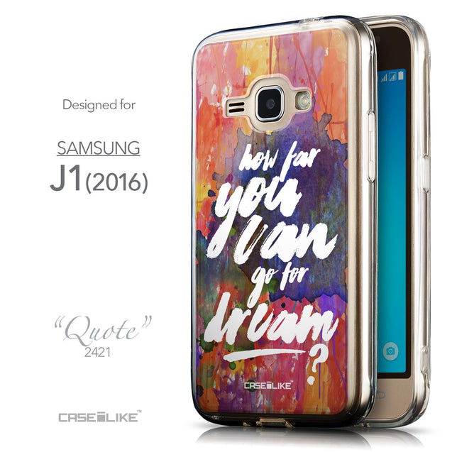 Front & Side View - CASEiLIKE Samsung Galaxy J1 (2016) back cover Quote 2421