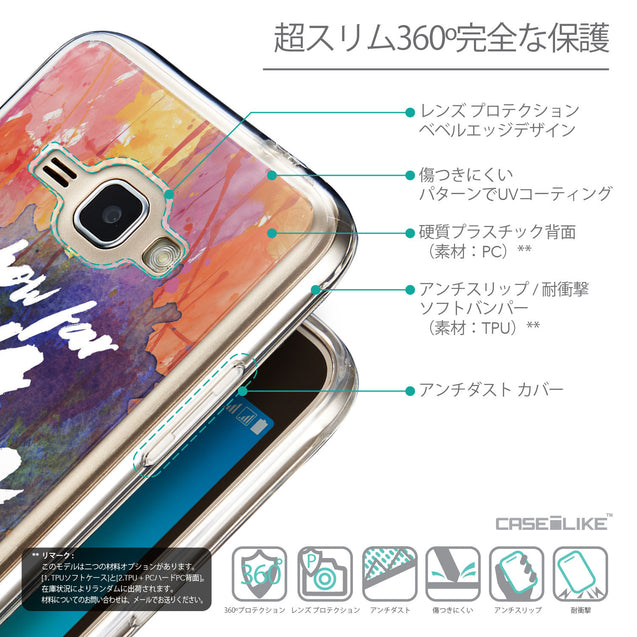 Details in Japanese - CASEiLIKE Samsung Galaxy J1 (2016) back cover Quote 2421