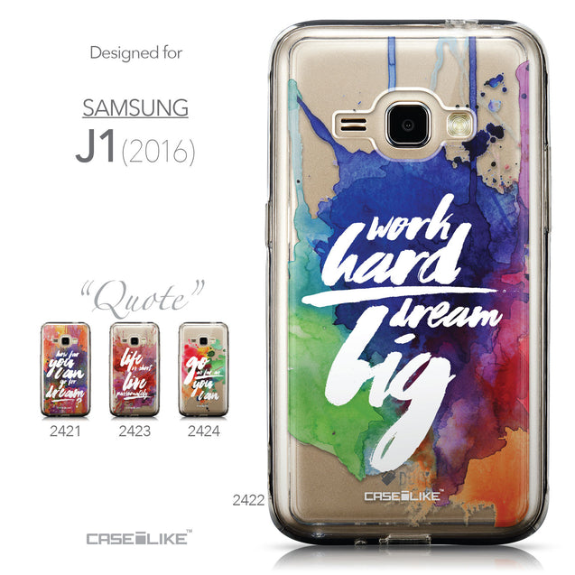 Collection - CASEiLIKE Samsung Galaxy J1 (2016) back cover Quote 2422