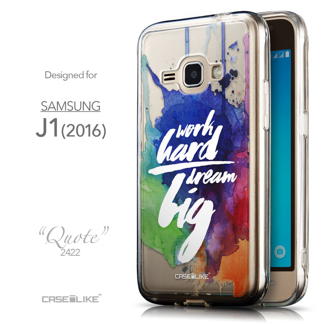 Front & Side View - CASEiLIKE Samsung Galaxy J1 (2016) back cover Quote 2422