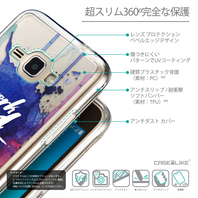 Details in Japanese - CASEiLIKE Samsung Galaxy J1 (2016) back cover Quote 2422