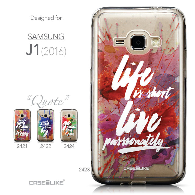 Collection - CASEiLIKE Samsung Galaxy J1 (2016) back cover Quote 2423