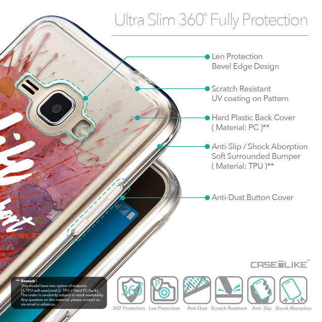 Details in English - CASEiLIKE Samsung Galaxy J1 (2016) back cover Quote 2423
