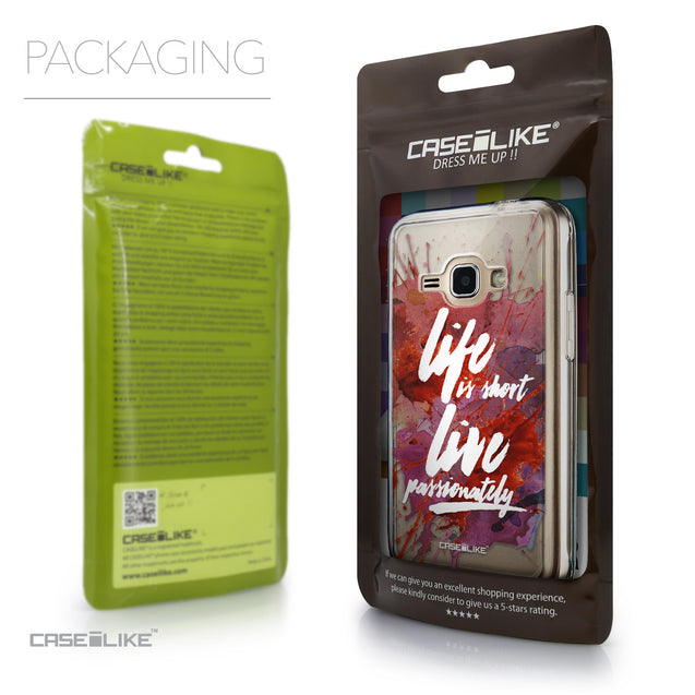 Packaging - CASEiLIKE Samsung Galaxy J1 (2016) back cover Quote 2423