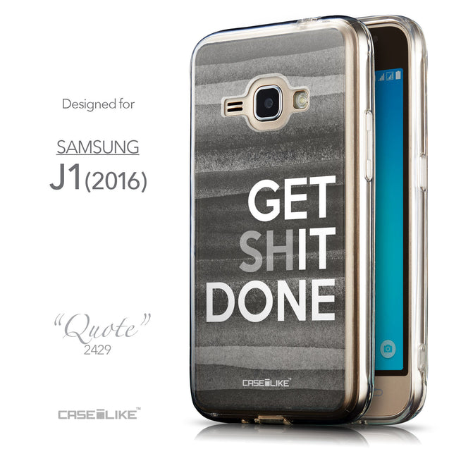 Front & Side View - CASEiLIKE Samsung Galaxy J1 (2016) back cover Quote 2429