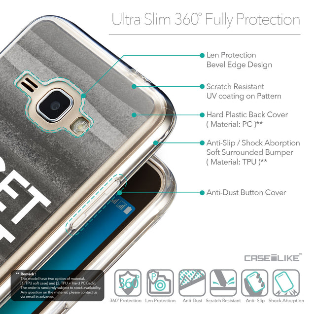 Details in English - CASEiLIKE Samsung Galaxy J1 (2016) back cover Quote 2429