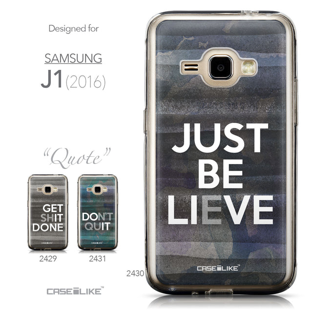 Collection - CASEiLIKE Samsung Galaxy J1 (2016) back cover Quote 2430