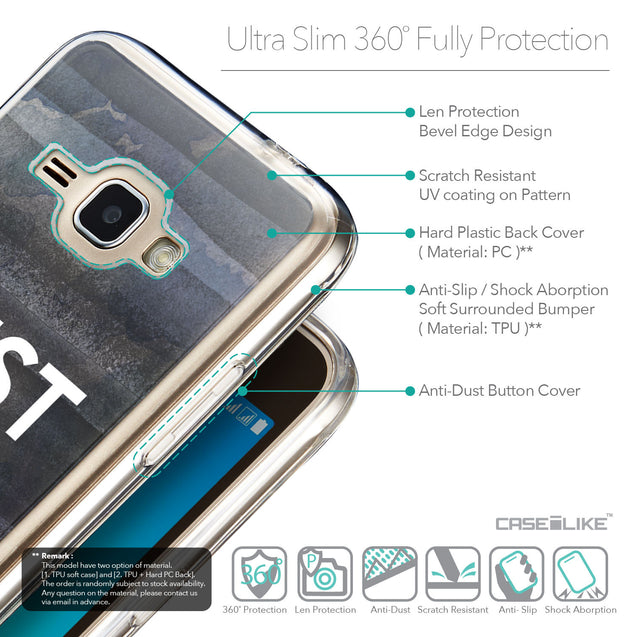 Details in English - CASEiLIKE Samsung Galaxy J1 (2016) back cover Quote 2430