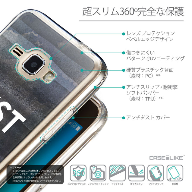 Details in Japanese - CASEiLIKE Samsung Galaxy J1 (2016) back cover Quote 2430