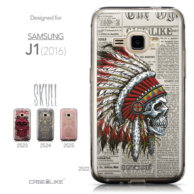 Collection - CASEiLIKE Samsung Galaxy J1 (2016) back cover Art of Skull 2522