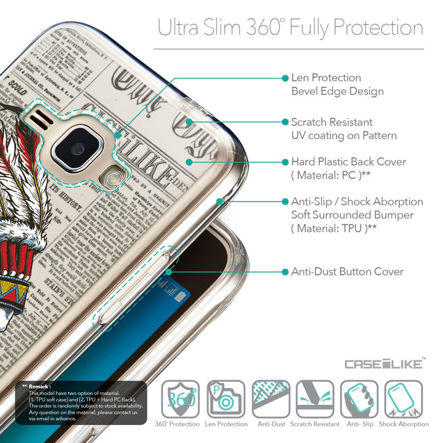 Details in English - CASEiLIKE Samsung Galaxy J1 (2016) back cover Art of Skull 2522