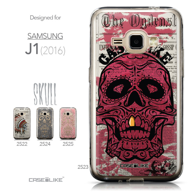 Collection - CASEiLIKE Samsung Galaxy J1 (2016) back cover Art of Skull 2523