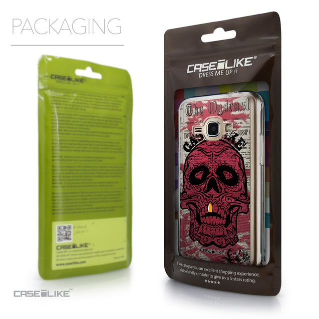 Packaging - CASEiLIKE Samsung Galaxy J1 (2016) back cover Art of Skull 2523