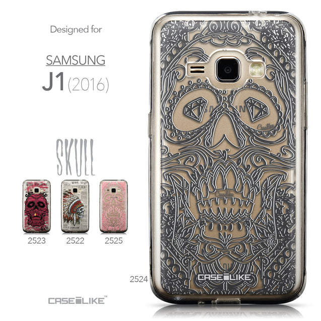Collection - CASEiLIKE Samsung Galaxy J1 (2016) back cover Art of Skull 2524