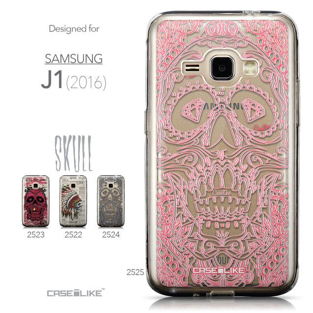 Collection - CASEiLIKE Samsung Galaxy J1 (2016) back cover Art of Skull 2525