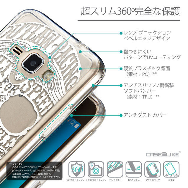 Details in Japanese - CASEiLIKE Samsung Galaxy J1 (2016) back cover Art of Skull 2530