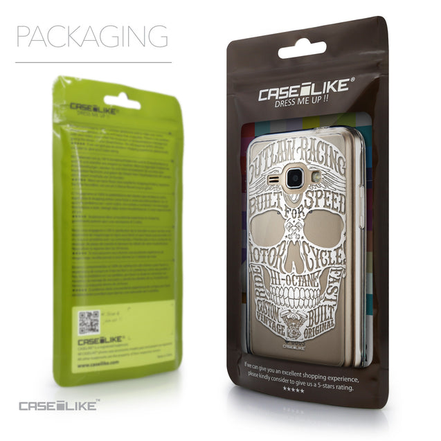 Packaging - CASEiLIKE Samsung Galaxy J1 (2016) back cover Art of Skull 2530