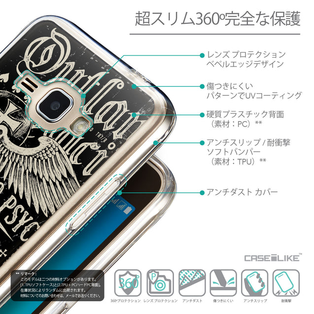 Details in Japanese - CASEiLIKE Samsung Galaxy J1 (2016) back cover Art of Skull 2531