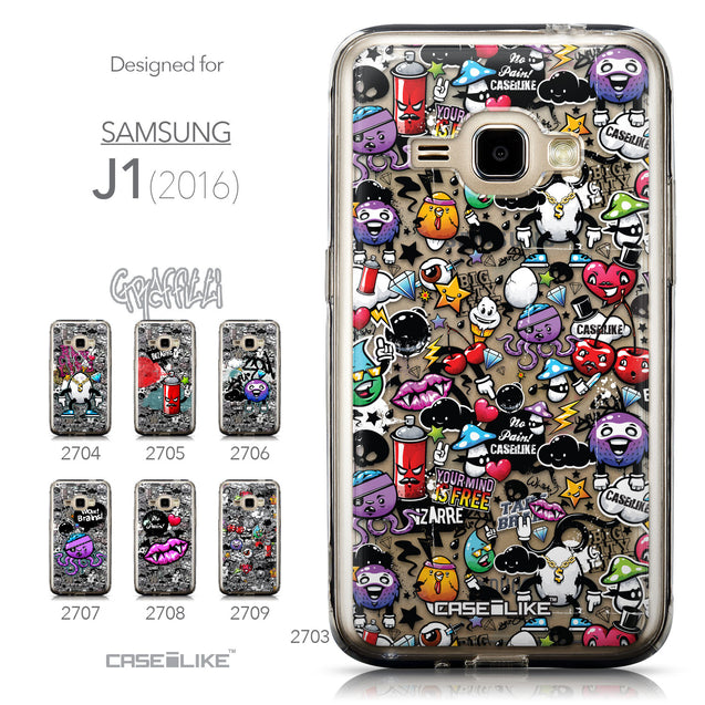 Collection - CASEiLIKE Samsung Galaxy J1 (2016) back cover Graffiti 2703